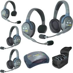 Eartec HUB 5-23 - Комплект UltraLITE & HUB 5 абонентов с гарнитурами 2 Single 3 Double Headsets