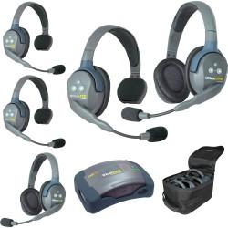 Eartec HUB 5-32 - Комплект UltraLITE & HUB 5 абонентов с гарнитурами 3 Single 2 Double Headsets