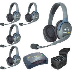 Eartec HUB 5-D - Комплект UltraLITE & HUB 5 абонентов с гарнитурами 5 Double Headsets