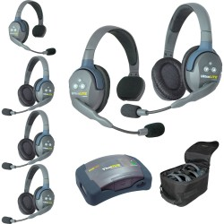 Eartec HUB 6-24 - Комплект UltraLITE & HUB 6 абонентов с гарнитурами 2 Single 4 Double Headsets