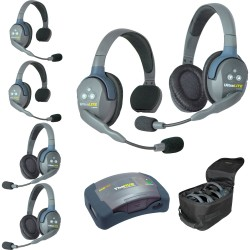 Eartec HUB 6-33 - Комплект UltraLITE & HUB 6 абонентов с гарнитурами 3 Single 3 Double Headsets