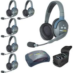 Eartec HUB 6D - Комплект UltraLITE & HUB 6 абонентов с гарнитурами 6 Double Headsets