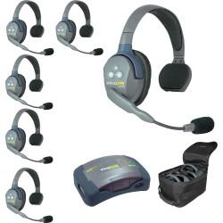 Eartec HUB 6S - Комплект UltraLITE & HUB 6 абонентов с гарнитурами 6 Single Headsets