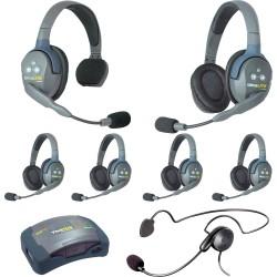 Eartec HUB 7-15CYB - Комплект UltraLITE & HUB 7 абонентов с гарнитурами 1 Single 5 Double 1 Cyber