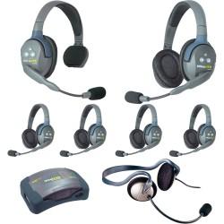 Eartec HUB 7-15MON - Комплект UltraLITE & HUB 7 абонентов с гарнитурами 1 Single 5 Double 1 Monarch