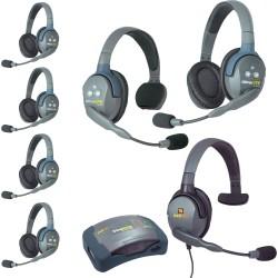 Eartec HUB 7-24MXS - Комплект UltraLITE & HUB 7 абонентов с гарнитурами 2 Single 4 Double 1 Max 4G Single
