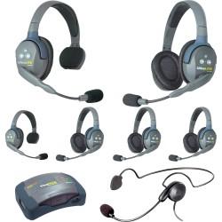 Eartec HUB 7-24CYB - Комплект UltraLITE & HUB 7 абонентов с гарнитурами 2 Single 4 Double 1 Cyber