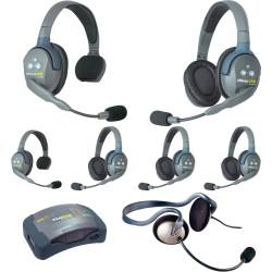 Eartec HUB 7-24MON - Комплект UltraLITE & HUB 7 абонентов с гарнитурами 2 Single 4 Double 1 Monarch