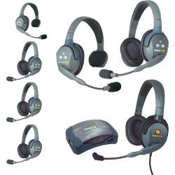 Eartec HUB 7-24MXD - Комплект UltraLITE & HUB 7 абонентов с гарнитурами 2 Single 4 Double 1 Max 4G Double
