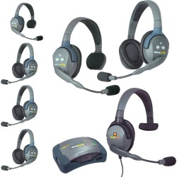 Eartec HUB 7-33MXS - Комплект UltraLITE & HUB 7 абонентов с гарнитурами 3 Single 3 Double 1 Max 4G Single