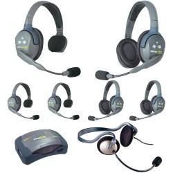 Eartec HUB 7-33MON - Комплект UltraLITE & HUB 7 абонентов с гарнитурами 3 Single 3 Double 1 Monarch