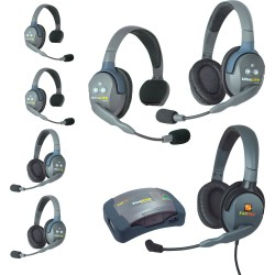 Eartec HUB 7-33MXD - Комплект UltraLITE & HUB 7 абонентов с гарнитурами 3 Single 3 Double 1 Max 4G Double