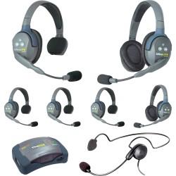 Eartec HUB 7-42CYB - Комплект UltraLITE & HUB 7 абонентов с гарнитурами 4 Single 2 Double 1 Cyber