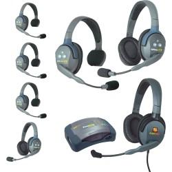 Eartec HUB 7-42MXD - Комплект UltraLITE & HUB 7 абонентов с гарнитурами 4 Single 2 Double 1 Max 4G Double
