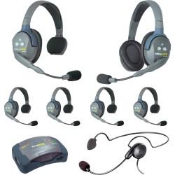 Eartec HUB 7-51CYB - Комплект UltraLITE & HUB 7 абонентов с гарнитурами 5 Single 1 Double 1 Cyber