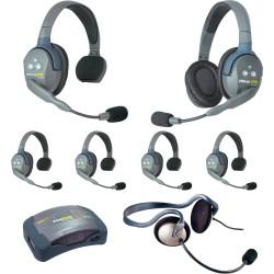 Eartec HUB 7-51MON - Комплект UltraLITE & HUB 7 абонентов с гарнитурами 5 Single 1 Double 1 Monarch
