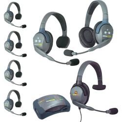 Eartec HUB 7-51MXS - Комплект UltraLITE & HUB 7 абонентов с гарнитурами 5 Single 1 Double 1 Max 4G Single