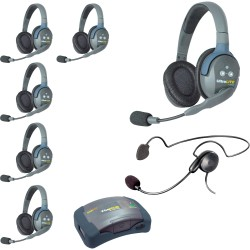 Eartec HUB 7-DCYB - Комплект UltraLITE & HUB 7 абонентов с гарнитурами 6 Double 1 Cyber Headset