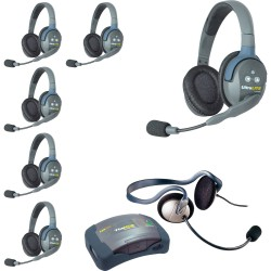 Eartec HUB 7-DMON - Комплект UltraLITE & HUB 7 абонентов с гарнитурами 6 Double 1 Monarch Headset