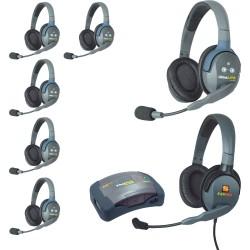 Eartec HUB 7-DMXD - Комплект UltraLITE & HUB 7 абонентов с гарнитурами 6 Double 1 Max 4G Double