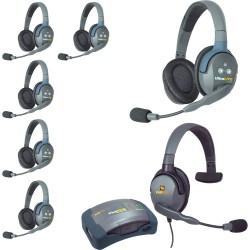 Eartec HUB 7-DMXS - Комплект UltraLITE & HUB 7 абонентов с гарнитурами 6 Double 1 Max 4G Single