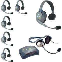Eartec HUB 7-SMON - Комплект UltraLITE & HUB 7 абонентов с гарнитурами 6 Single 1 Monarch Headset