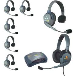 Eartec HUB 7-SMXD - Комплект UltraLITE & HUB 7 абонентов с гарнитурами 6 Single 1 Max 4G Double
