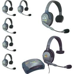 Eartec HUB 7-SMXS - Комплект UltraLITE & HUB 7 абонентов с гарнитурами 6 Single 1 Max 4G Single