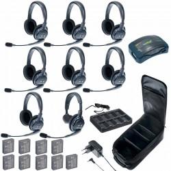 Eartec HUB 8-17 - Комплект на 8 абонентов с гарнитурами 1 Single 7 Double Headsets