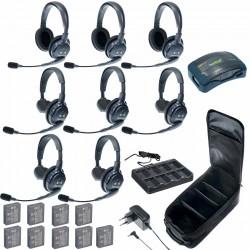 Eartec HUB 8-53 - Комплект на 8 абонентов с гарнитурами 5 Single 3 Double Headsets