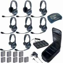 Eartec HUB 8-62 - Комплект на 8 абонентов с гарнитурами 6 Single 2 Double Headsets