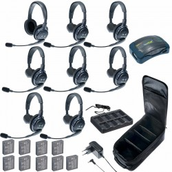 Eartec HUB 8-71 - Комплект на 8 абонентов с гарнитурами 7 Single 1 Double Headsets