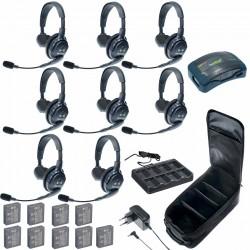 Eartec HUB 8-S - Комплект на 8 абонентов с гарнитурами 8 Single Headsets