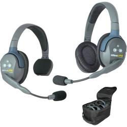 Eartec UltraLITE 2-SD - Комплект UltraLITE 2 абонента с гарнитурами 1 Single 1 Double Headset