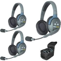 Eartec UltraLITE 3-D - Комплект UltraLITE 3 абонента с гарнитурами 3 Double Headsets