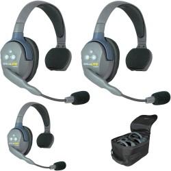 Eartec UltraLITE 3-S - Комплект UltraLITE 3 абонента с гарнитурами 3 Single Headsets