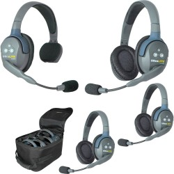 Eartec UltraLITE 4-13 - Комплект UltraLITE 4 абонента с гарнитурами 1 Single 3 Double Headsets
