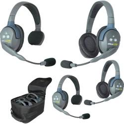 Eartec UltraLITE 4-22 - Комплект UltraLITE 4 абонента с гарнитурами 2 Single 2 Double Headsets