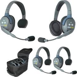Eartec UltraLITE 4-31 - Комплект UltraLITE 4 абонента с гарнитурами 3 Single 1 Double Headsets