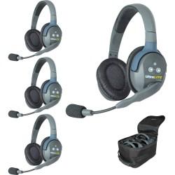 Eartec UltraLITE 4-D - Комплект UltraLITE 4 абонента с гарнитурами 4 Double Headsets