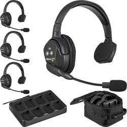 Eartec UltraLITE 4-S - Комплект UltraLITE 4 абонента с гарнитурами 4 Single Headsets