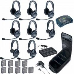 Eartec HUB 8-35 - Комплект на 8 абонентов с гарнитурами 3 Single 5 Double Headsets